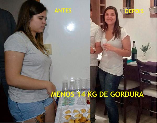 Josi Perder 14kg de Gordura Antes e Depois Q48 Horas
